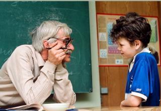 Старый учитель и молодая фото 646-931