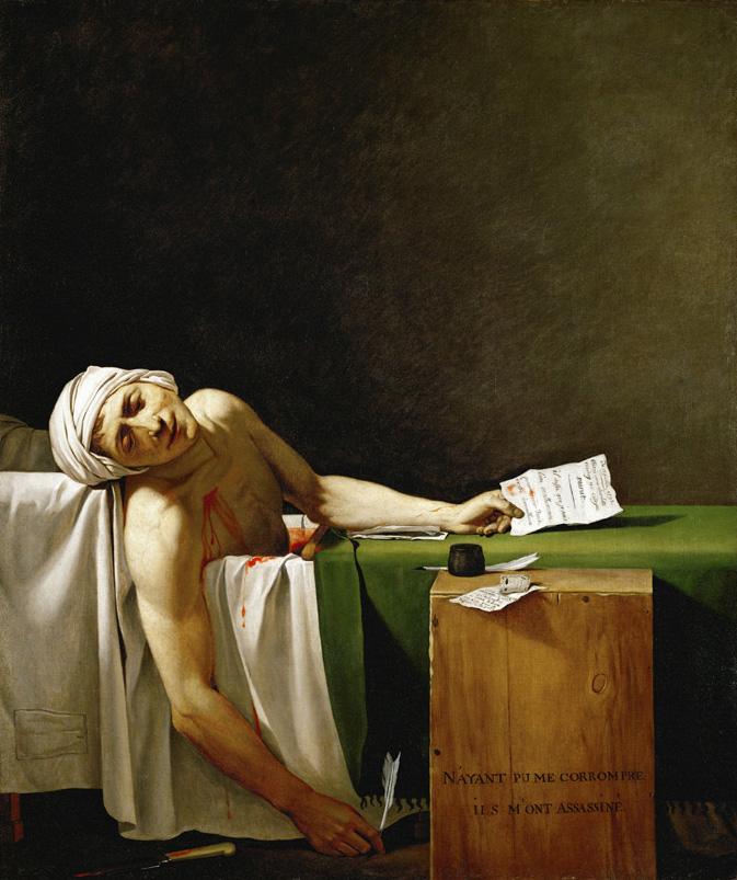 Смерть Марата, Жак Луи Давид