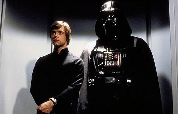 интересные факты о звездных войнах - Люк и Дарт Вейдер